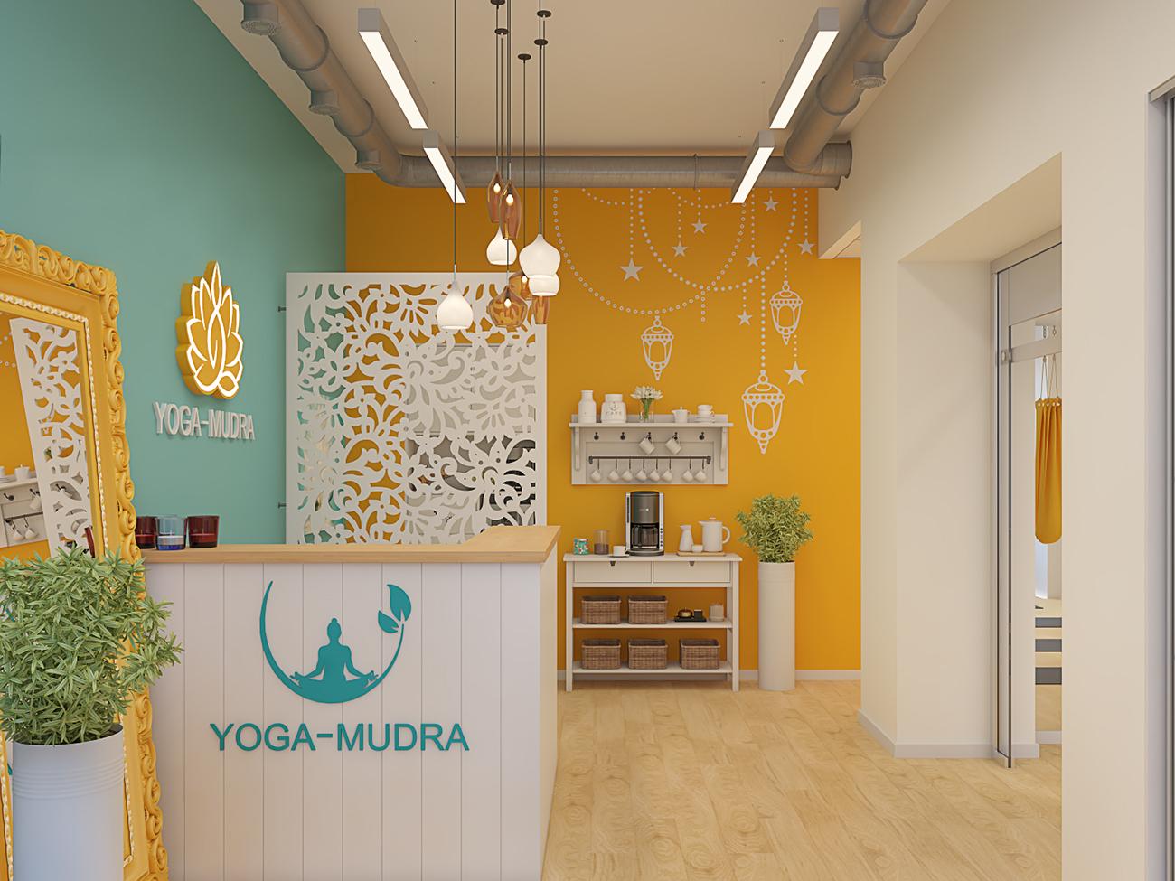 """Оформление интерьера студии йоги """"YOGA-MUDRA"""""""