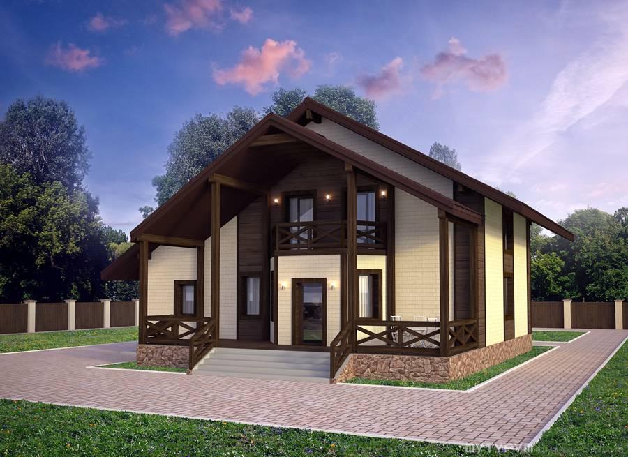 Дизайн фасада современного загородного дома