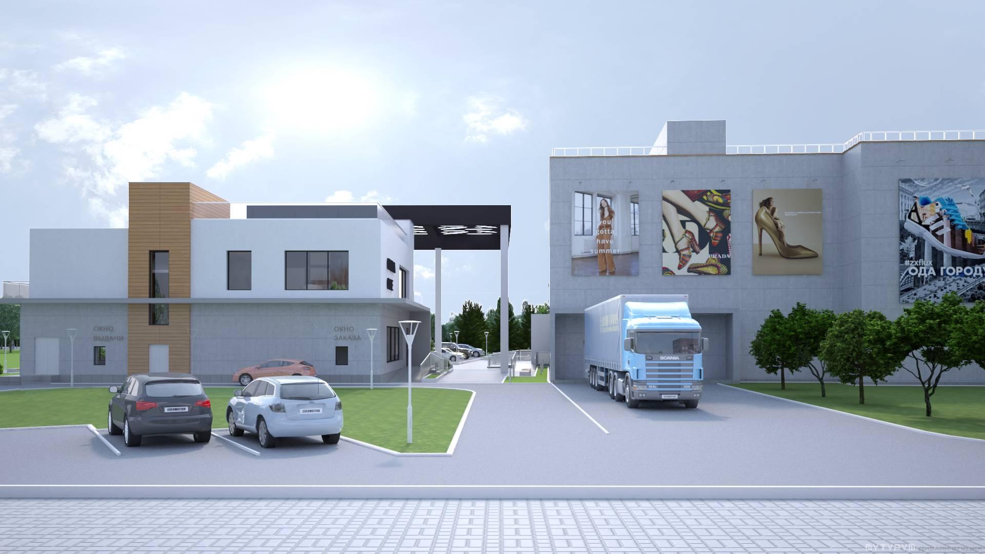 Здание и территория торгово-развлекательного центра г. Нижний Тагил