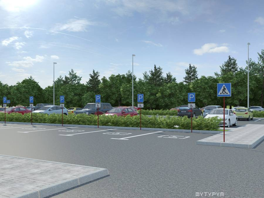 3D визуализация здания торговый комплекс Мебель Молл, г. Нижний Тагил