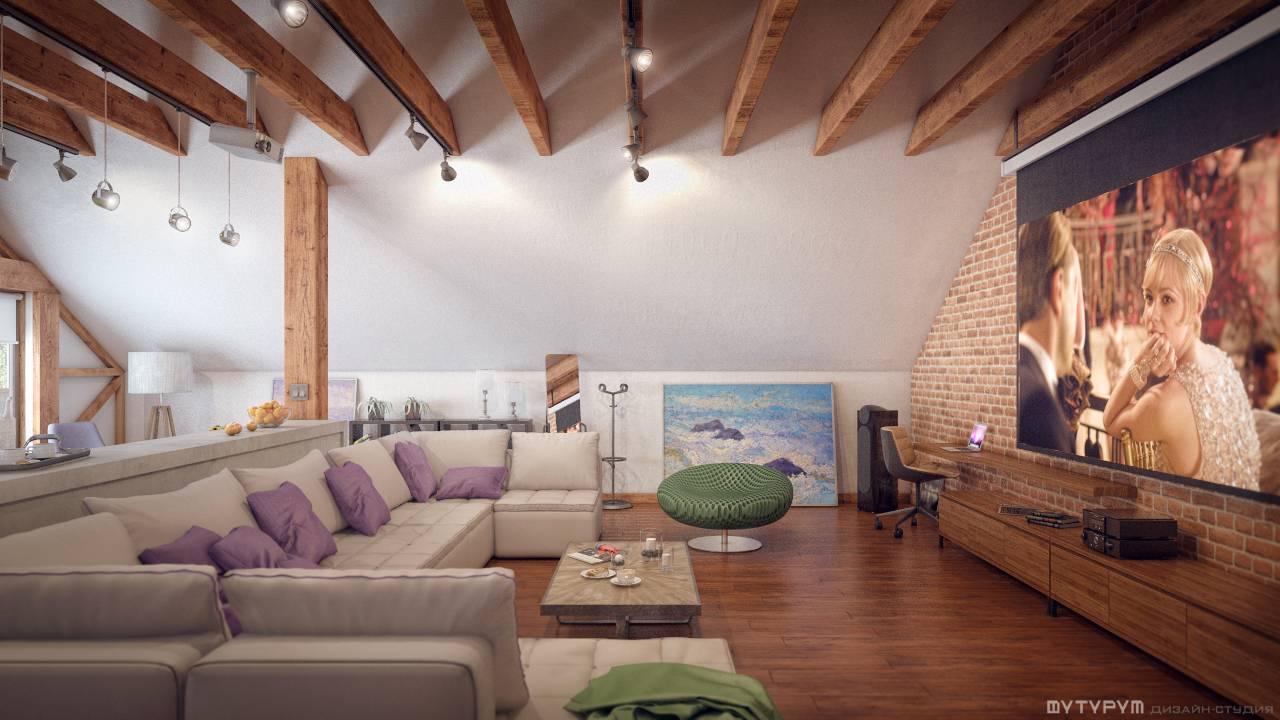 Дизайн-проект загородного дома в стиле лофт п. Черноисточинск
