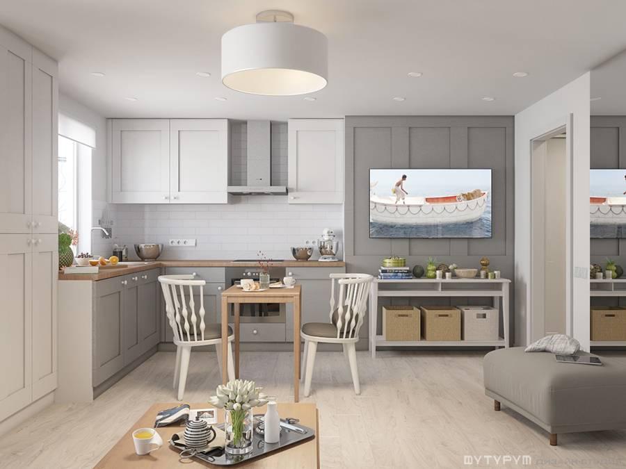 Дизайн-проект квартиры-студии в скандинавском стиле
