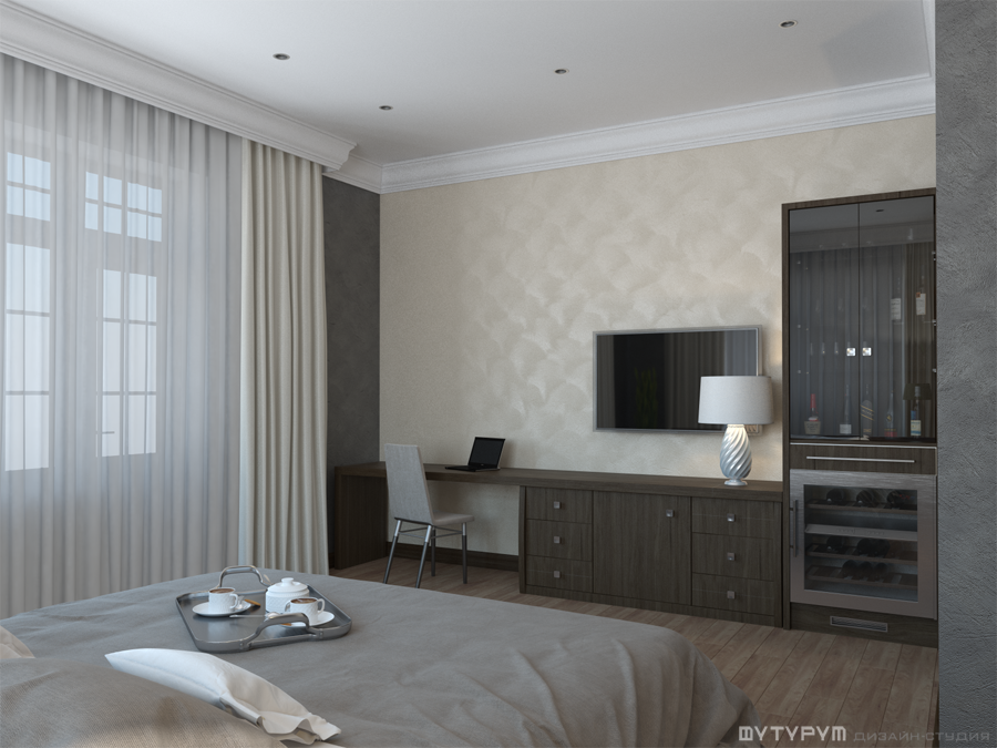Дизайн-проект интерьера гостиницы. Свердловская область