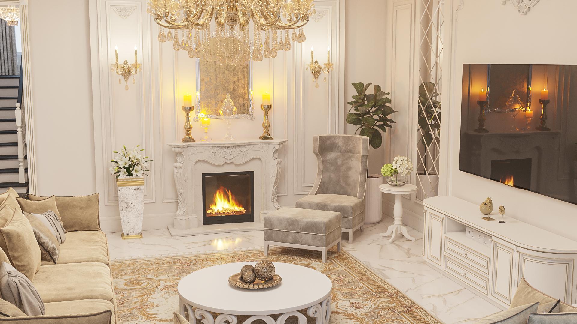 Классический интерьер дома г. Екатеринбург